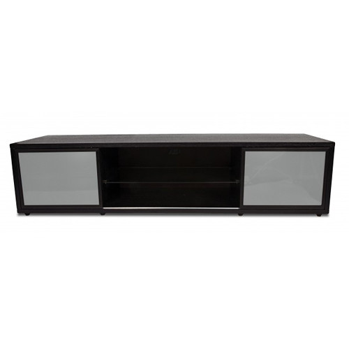 PLATEAU SR-V 75 TV Stand (Black Oak Finish, Black Door Frames)
