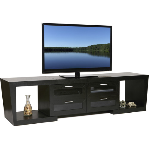 PLATEAU Valencia 5187 Expandable TV Stand (Black Oak)