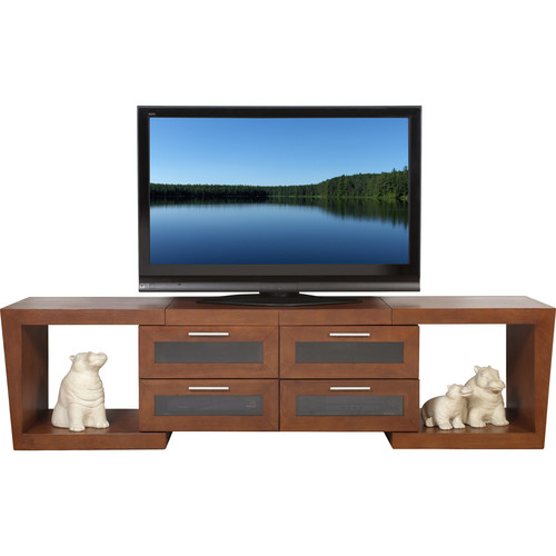 PLATEAU Valencia 5187 Expandable TV Stand (Walnut)