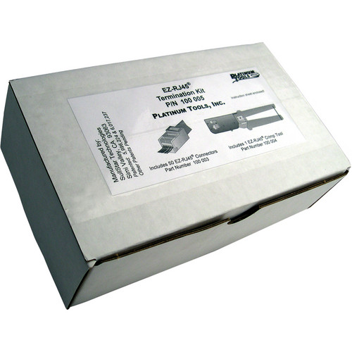 Platinum Tools 100002 EZ-RJ45 Convenience Pack (Clamshell Packaging)
