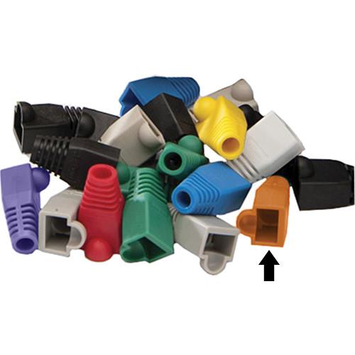 Platinum Tools 5.5mm RJ-45 Colored Boots (Orange, Pack of 25)