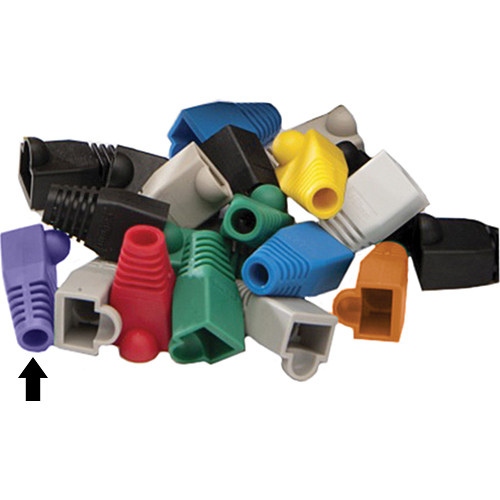 Platinum Tools 6.5mm RJ45 Colored Boots (Purple, Pack of 25)
