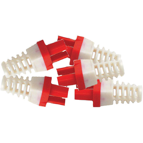 Platinum Tools Strain Relief for CAT6 Connector (Red)