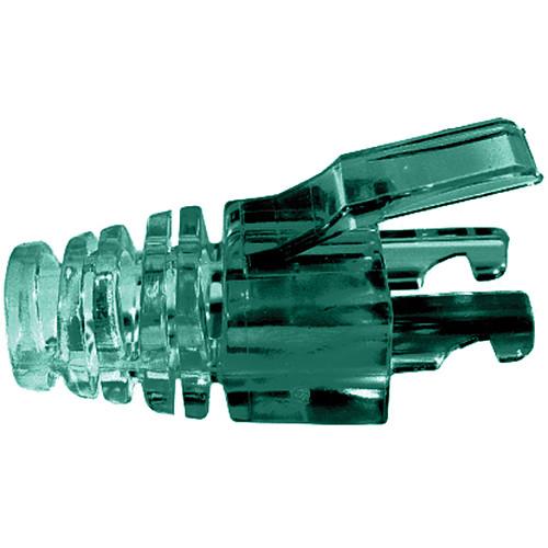 Platinum Tools EZ-DataLock Strain Relief Locks for CAT5e Connectors (Green, Pack of 100)