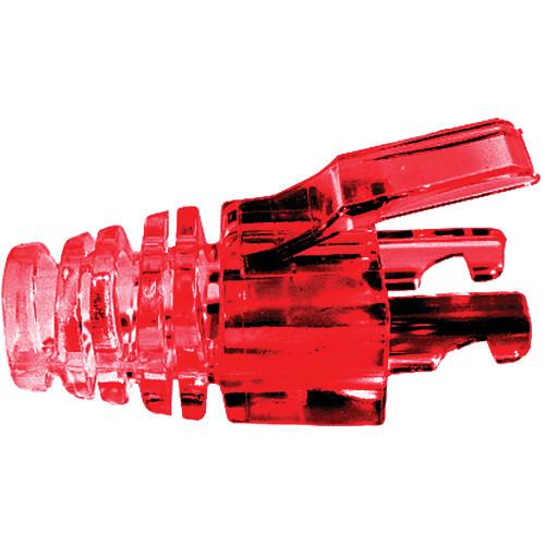 Platinum Tools EZ-DataLock Strain Relief Locks for CAT6 Connectors (Red, Pack of 100)