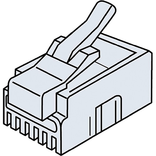 Platinum Tools RJ11-6P4C Standard Modular Plug (Clamshell Packaging, 25-Pieces)