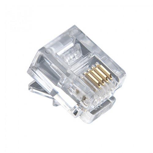 Platinum Tools RJ11-6P4C Standard Modular Plug (Jar Packaging, 100-Pieces)