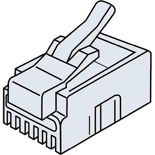 Platinum Tools 106127C RJ12-6P6C Modular Plug (25 Pack, Clamshell)