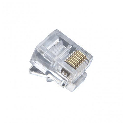 Platinum Tools 106128J RJ12-6P6C Modular Plug (100 Pack, Jar)