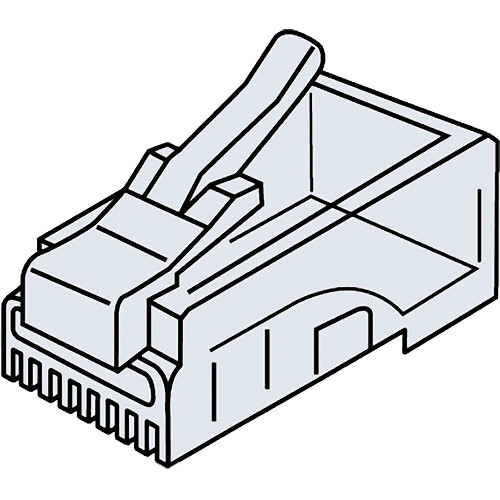 Platinum Tools CAT5e RJ45-8P8C Modular Connector (Clamshell Packaging, 25-Pieces)