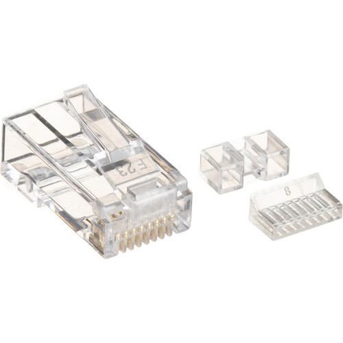 Platinum Tools Cat 6 RJ45-8P8C Connector (Clamshell, 25-Pieces)