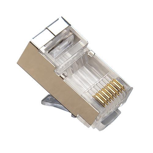 Platinum Tools RJ45 Shielded Crimp-On Ethernet Connector (50-Pack, Clamshell)
