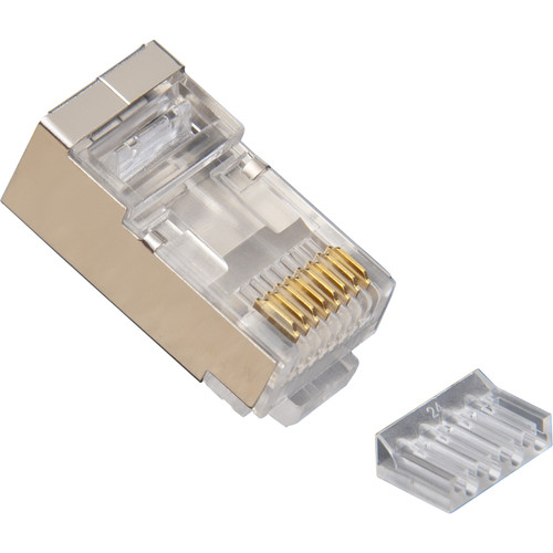 Platinum Tools RJ45 Standard Shielded 2-Piece CAT6 Connector with Liner (Tray of 100)