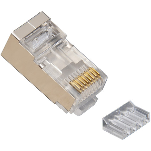 Platinum Tools RJ45 Standard Shielded 2-Piece CAT6 Connector with Liner (Clamshell of 50)