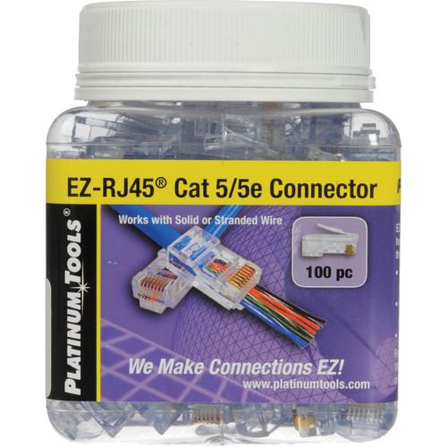 Platinum Tools EZ-RJ45 CAT5/5e Connectors (Jar, 100)