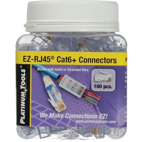 Platinum Tools EZ-RJ45 CAT6 Connectors (Jar Packaging, 100-Pieces)