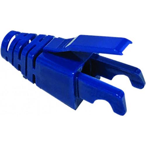Platinum Tools EZ-RJ45 CAT6 Snag-Proof Strain Reliefs (Jar Packaging, 100-Pack, Blue)
