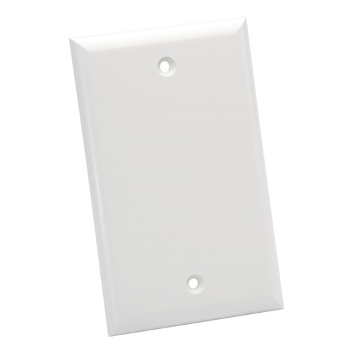 Platinum Tools Standard 1 Gang Blank Wall Plate (White, 25-Pack)