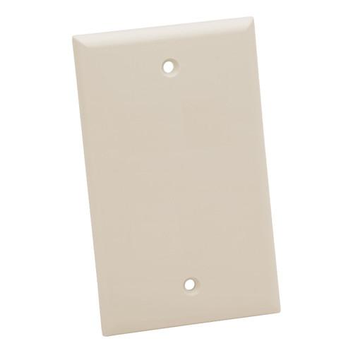Platinum Tools Standard 1-Port Wall Plate (Light Almond, 25-Pack)