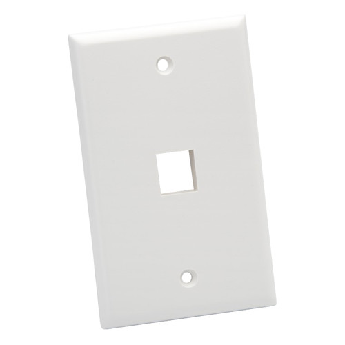 Platinum Tools Standard 1-Port Wall Plate (White, 25-Pack)