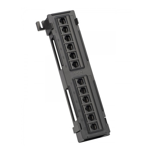 Platinum Tools 12-Port Cat5e Non-Shielded Wall Mount Patch Panel