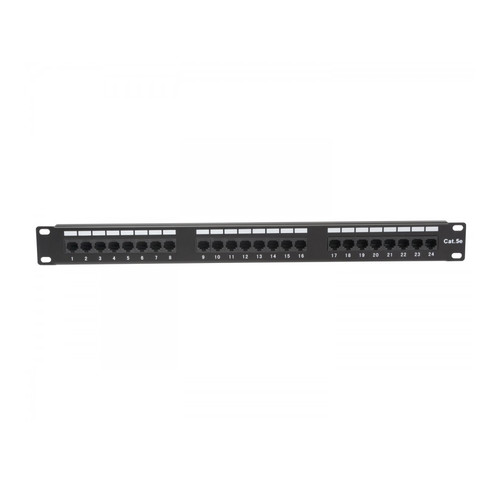 Platinum Tools 24-Port Cat5e Non-Shielded Patch Panel (1 RU)