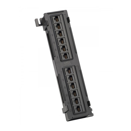 Platinum Tools 12-Port Cat6 Non-Shielded Wall Mount Patch Panel