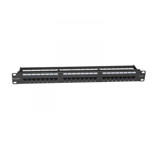 Platinum Tools 24-Port Cat6 Non-Shielded Patch Panel (1 RU)