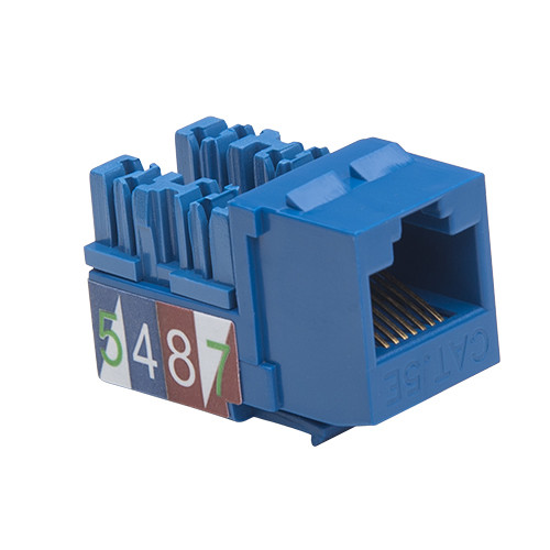 Platinum Tools Keystone Cat5e 110 Jack (Blue, 50-Pack)