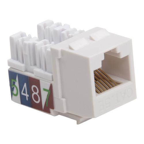 Platinum Tools Keystone Cat 5e 110 Jack (White, 50-Pack)