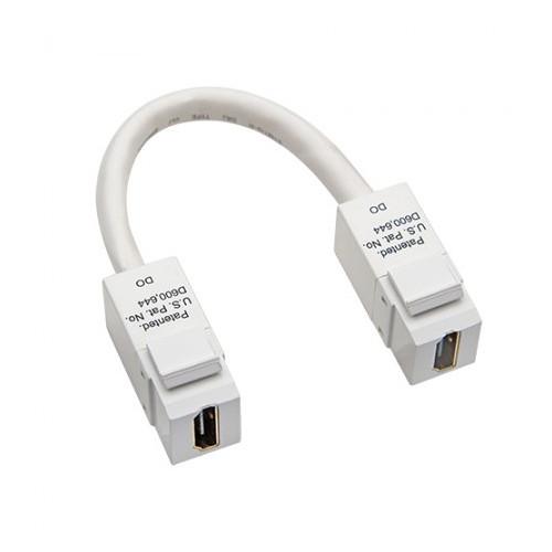 Platinum Tools HDMI to HDMI Keystone Pigtail (White)