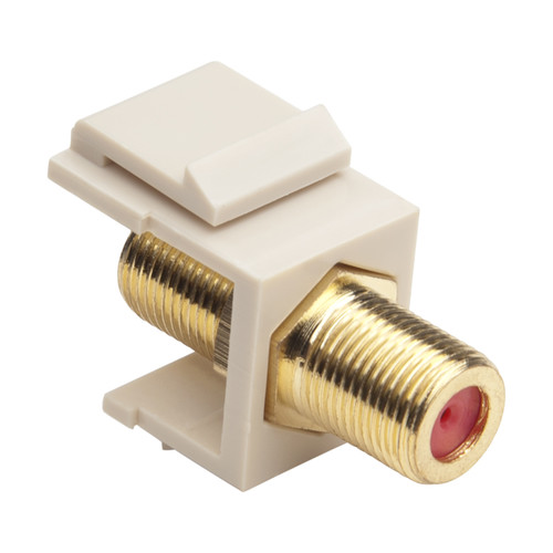 Platinum Tools Keystone F 3GHz Jack (Light Almond, 50-Pack)