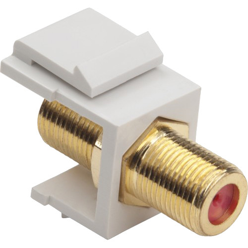 Platinum Tools Keystone F 3GHz Jack (White, 10-Pack)