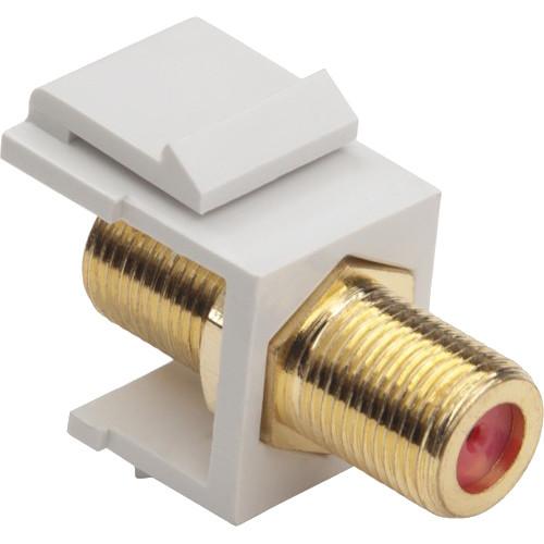 Platinum Tools Keystone F 3GHz Jack (White, 50-Pack)