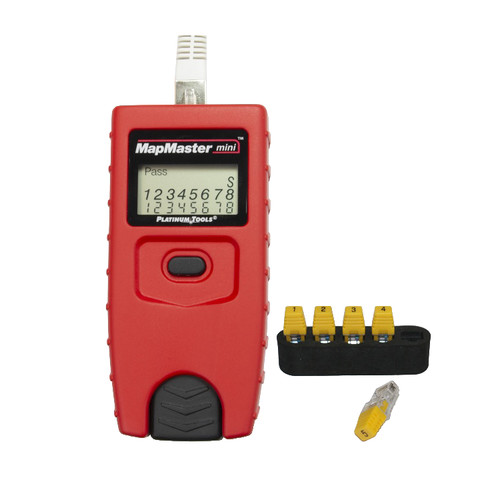 Platinum Tools MapMaster Mini Cable Tester with #1-5 ID Only Remotes (Clamshell)