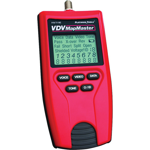 Platinum Tools VDV MapMaster Continuity Tester, Mapper, and Tone Generator