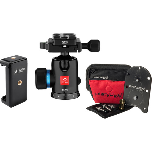 Platypod Deluxe Kit with Ball Head and Smartphone Tripod Mount