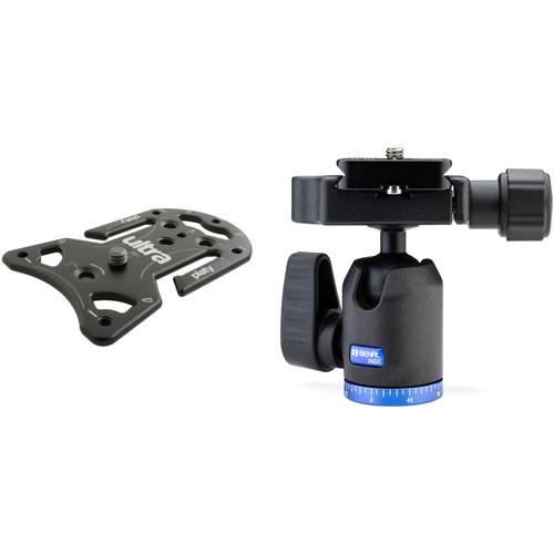 Platypod Ultra Plate Camera Support with Benro IN00 Single Action Ball Head Kit
