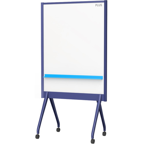 "Plus 34.5 x 46"" Mobile Partition Board (Navy)"