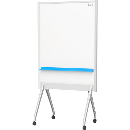 "Plus 34.5 x 46"" Mobile Partition Board (Light Gray)"