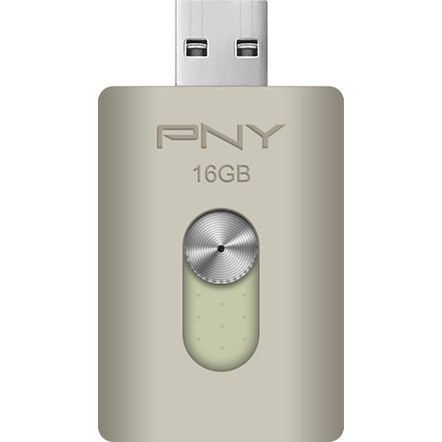 PNY Technologies DUO-LINK 16GB On-the-Go USB Flash Drive for Apple Devices