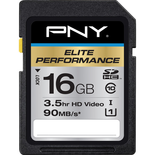 PNY Technologies 16GB Elite Performance SDHC Class 10 Memory Card