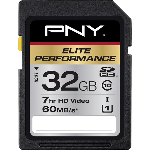 PNY Technologies 32 GB Elite Performance SDHC Class 10 UHS-1 - 60 MB/s SD Card