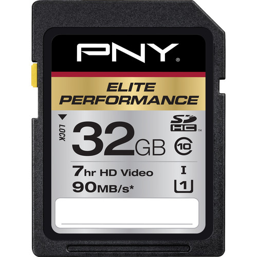 PNY Technologies 32 GB Elite Performance SDHC Class 10 UHS-1 - 90 MB/s SD Card
