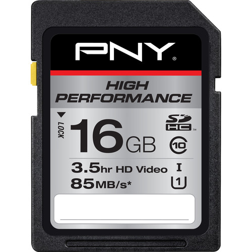 PNY Technologies 16GB High Performance SDHC Card