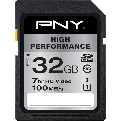 PNY Technologies 32GB High Performance UHS-I SDHC Memory Card