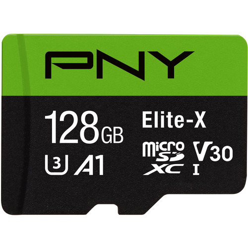PNY Technologies 128GB Elite-X UHS-I microSDXC Memory Card with SD Adapter