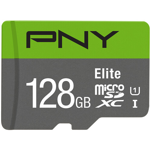PNY Technologies 128GB Elite UHS-I microSDXC Memory Card with SD Adapter