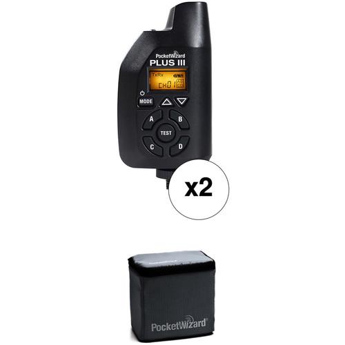PocketWizard Plus III Two Transceiver Kit (Black)
