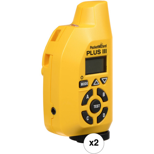 PocketWizard Plus III Two Transceiver Kit (Yellow)